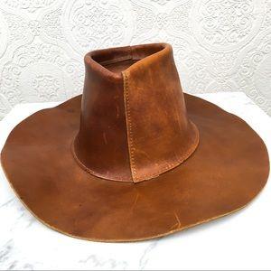 Vintage Henshel Skullys leather cowboy western hat